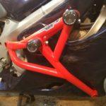Honda CBR 600 F4/F4i Клетка 4-х слайдерная под пластик